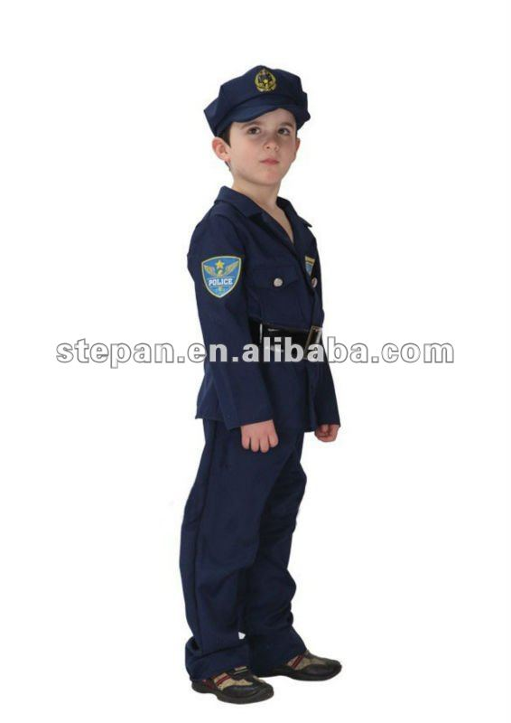 Police Officer Cop Boy/'s Complete Costume with Hat