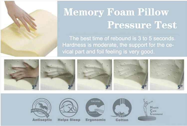 B-shaped Aloe Vera Cover Sleep Manufacture Contour Head Pillow Memory Foam Orthopedic Pillow Bamboo Bolster Pillow