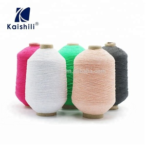 Wholesale yarn thread distributors hot sale polyester yarn prices for  knitted sock