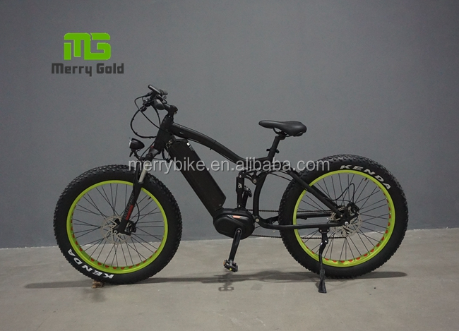 off road MTB full suspension fat tire mid drive bafang motor electric bike