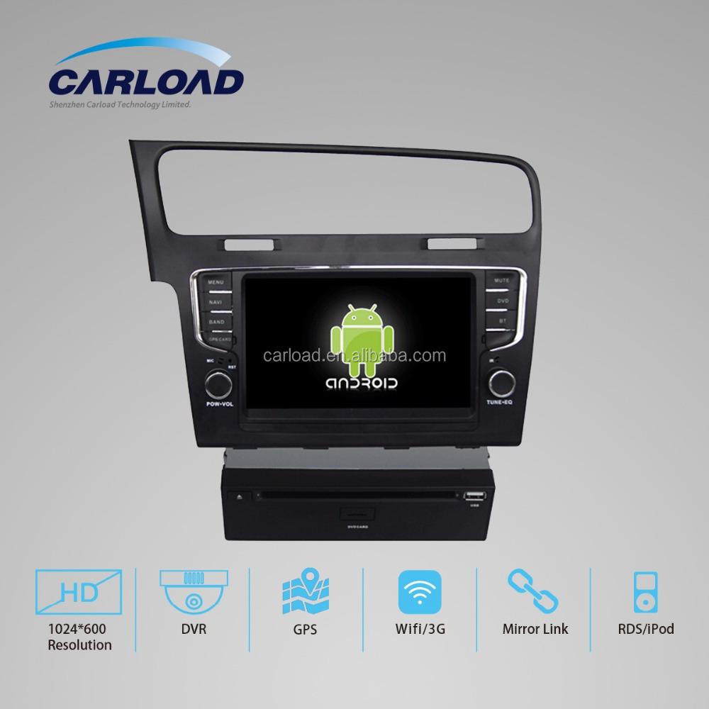 android 4.4 to 5.1 car navigation system for VW Golf 7 android 5.1