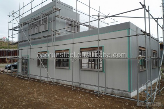 China supplier Qingdao Baorun prefabricated light steel structure warehouse drawing design