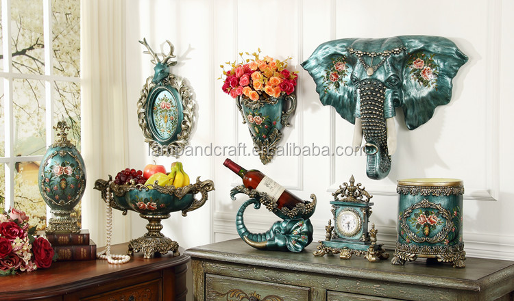 2016 luxus harz t rkische vasen mit blau l malerei elefant gro e bodenvase f r wohnzimmer. Black Bedroom Furniture Sets. Home Design Ideas