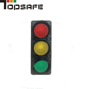 Road construction safety red yellow green traffic led module signal powered flashing light solar driveway lights