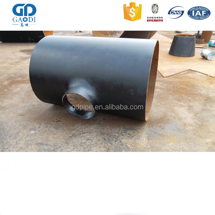 pipe fiting b16.5 seamless carbon steel equal tee sch40 by factory