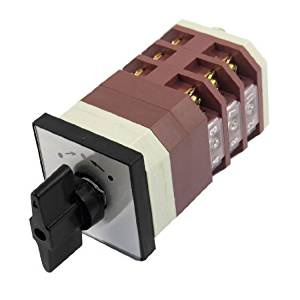 Water & Wood AC 380V 16A Momentary 3 Position 12 Terminals Cam Combination Changeover Switch