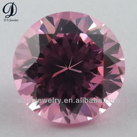 AAA grade colors Round brilliant cut cz synthetic gems