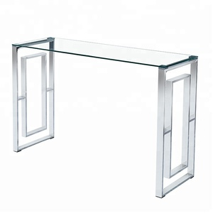 Stainless gold chromed and silver coffee table glass table made in China