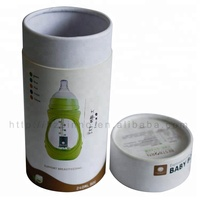 Fancy Round Matcha Tea Powder Bags Paper Packaging Tube loose Tea packing canister