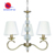 Huipu Lighting top sale antique brass fabric shades chandelier for home decorate