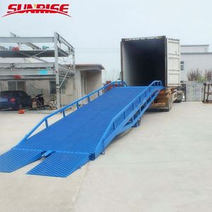 8tons forklift mobile container loading ramp CE good price hydraulic truck ramp