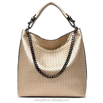 Metal Chain Luxury Bags High End Grid Tote Bag Fashion Big Women s Bag b68d25e8ec3d