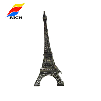 Custom Paris souvenir big size eiffel tower models of metal
