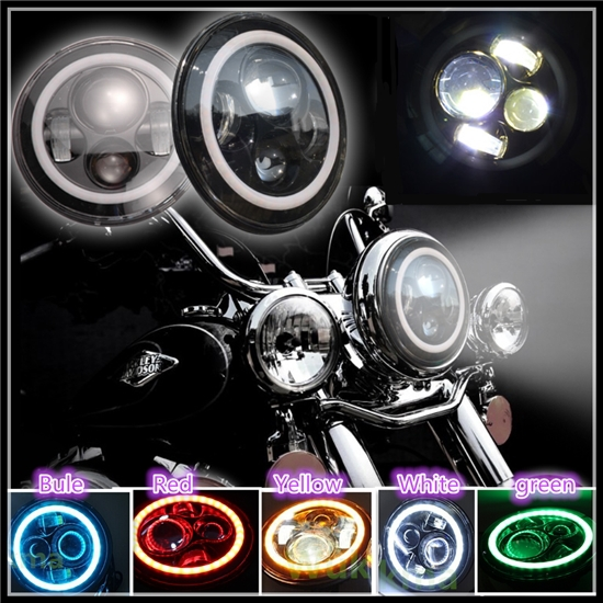 Motorcycle 7 Inch Headlights Projector Daymaker Led