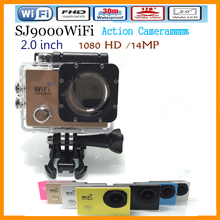 SJ9000 new go pro style 4K HD sports camera camcorder 1080P 2.0 inch 170 degree ultra-wide 30M waterproof WIFI foutdoors camera