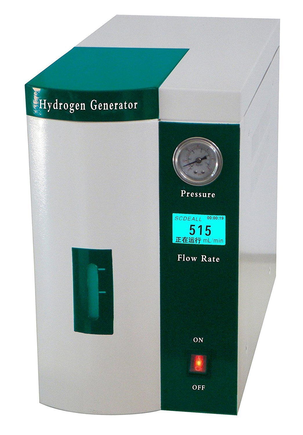 MXBAOHENG High Purity LCD Display Hydrogen Gas Generator Maker H2 Making Machine (110V, Output flow: 0-300ml/min)