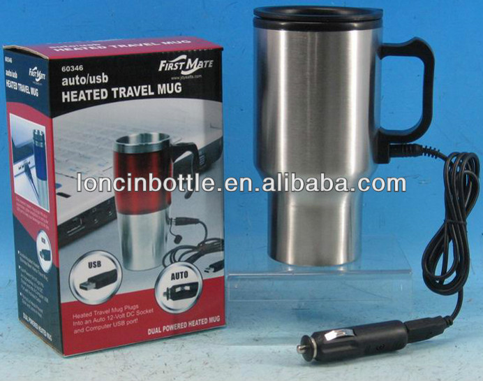 12v Car Adaptor Electric Heated Thermos Stainless Steel