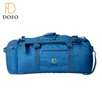 Custom high quality blue color gym sport bags waterproof foldable travel bag