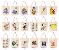 Long Handles Cotton&Canvas Promotional Shopping tote Bag with Screen Printing