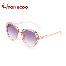 FONHCOO Wholesale Fashion Pink Frame Ladies Plastic Sunglasses