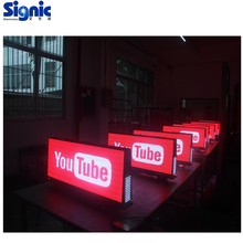 USA P2.5mm P3mm P5mm Outdoor Taxi Auto Top Digitale Animatie LED <span class=keywords><strong>Display</strong></span>, beste HD Taxi Top Video Reclame Billboard Teken