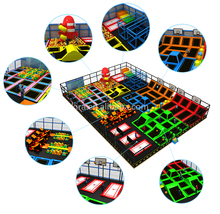kids indoor trampoline bed professional trampoline park with safety net