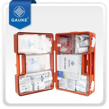 CE ISO Approved High Quality Factory Emergency First Aid Kit with Wall Bracket