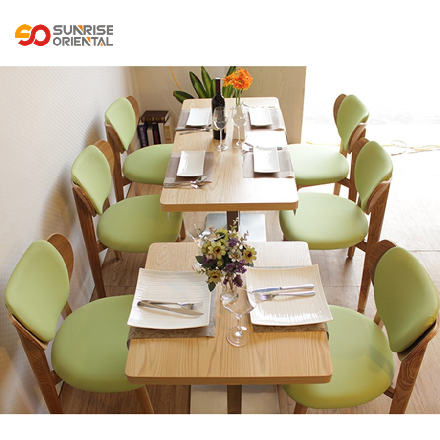 Restaurant table and chair furniture luxury antique wooden chairs cafe