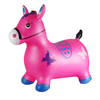 Durable children toy inflatable jumping animal,inflatable horse with musical