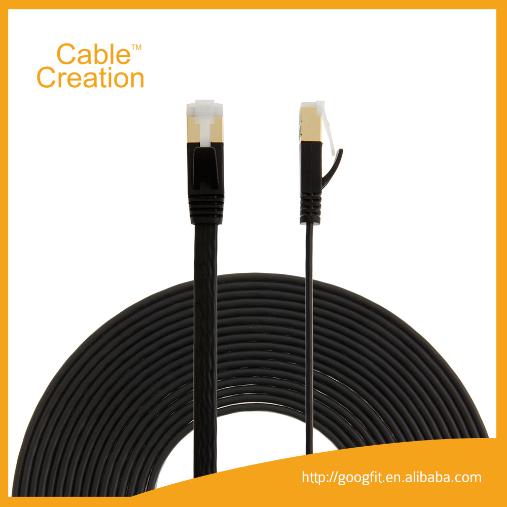 5m 32AWG Flat Cable Cat 7 SSTP Bulk Network Ethernet Lan rs485 Communication Cable Guangzhou Factory