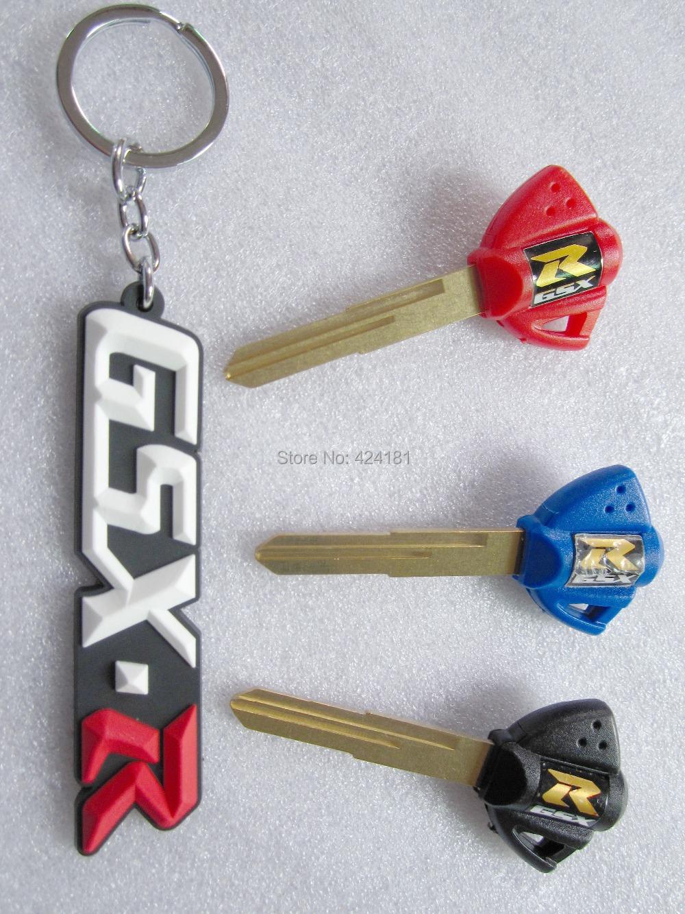Новый ключи от машины пустой режиссерский лезвие брелок брелок брелок сеть для мотоцикла SUZUKI GSXR 1000 / 600 / 750 GSX1300R 99-07 GSX-R