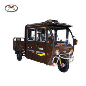 China Wholesale Popular Cargo Tricycle With Passenger Seats Three Wheel Cargo Electric Tricycle for Adults with closed cabin