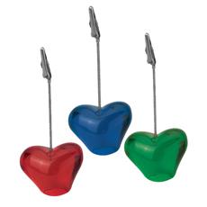 रचनात्मक OEM शादी वेलेंटाइन दिवस सजावटी स्पष्ट रंगीन दिल के आकार राल आधार धातु ज्ञापन क्लिप एक्रिलिक ज्ञापन पैड धारक