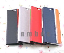 Flip Leather Wallet Stand Case Cover Mobile Phone Skin Protector for Samsung Galaxy S4 Mini I9190