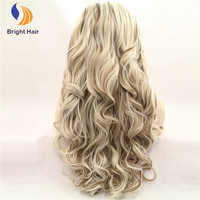 Long Wave Blonde Heat Resistant Wig