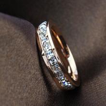 Geometric Design Women Fashion Wedding Ring Rose Gold Ring Titanium Steel Rings For Women Summer Engagement