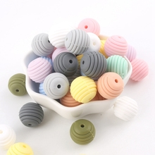 15 미리메터 실리콘 Spiral Round Beads 간호 Jewelry Accessories BPA Free Baby Teether