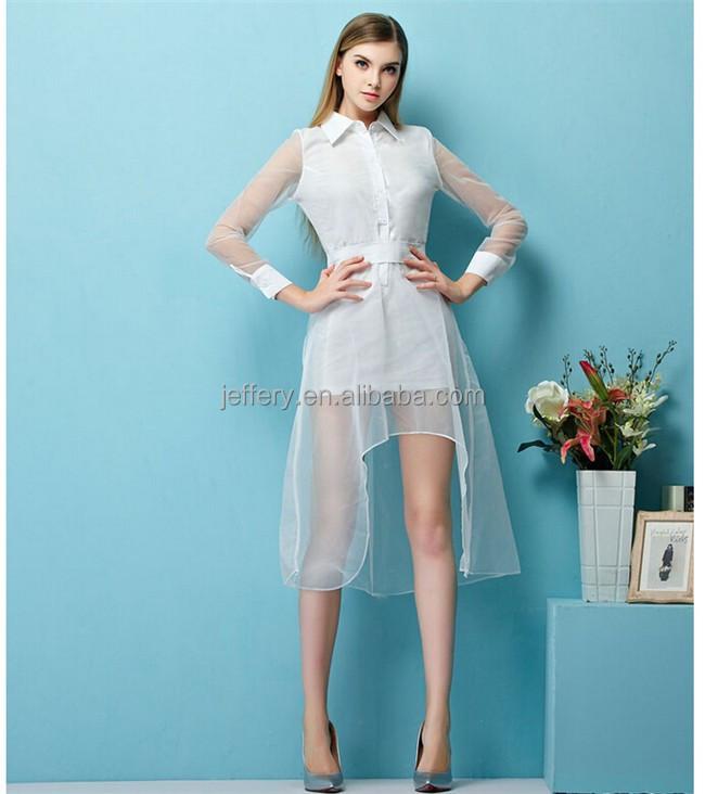 moderno nuevo diseos de vestir para damas malla patchwork vestido casual abierto frente vestido nico a