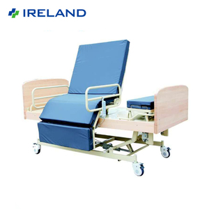 Adjustable rotational turning nursing beds for disabled people