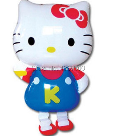Walking animal pet Hello Kitty Foil balloon kids toy inflatable balloons cartoon ballon for birthday decoration helium balloon