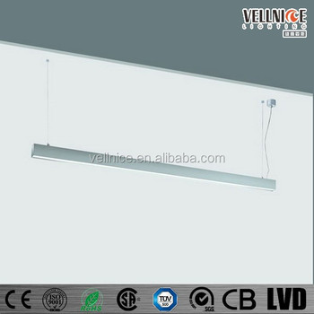 T5 Tube Suspended Fluorescent Lighting Fixture / Fluorescent ...