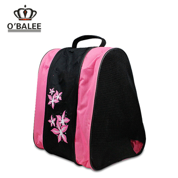 2017 Por Ing Custom Pink Blue Polyester Mesh Waterproof Wellington Ski Boot Bag