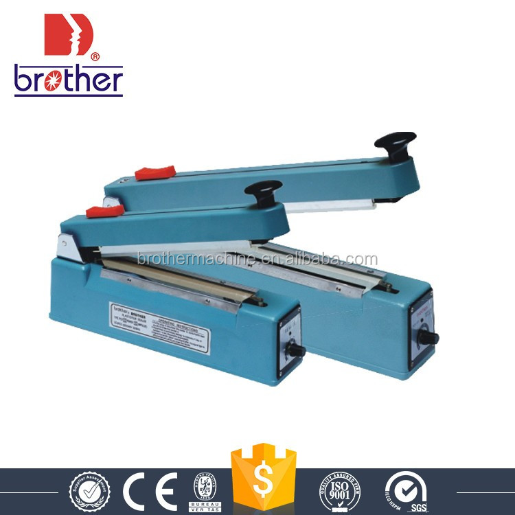 Brother hand press manual plastic bag sealer with middle cutter