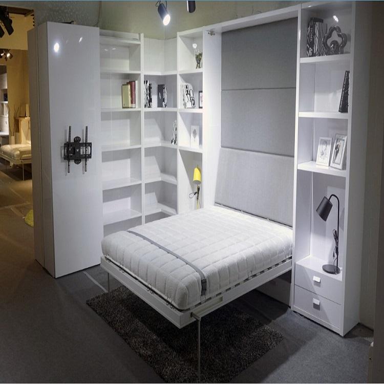 Doppel Wand Bett Modernen Wandelbare Schlafzimmer Platzsparende Möbel Klapp  Bett Murphy Versteckte Wand Bett