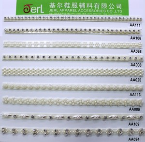 Lace type product ivory pearl beaded corded bridal lace trim for wedding dress