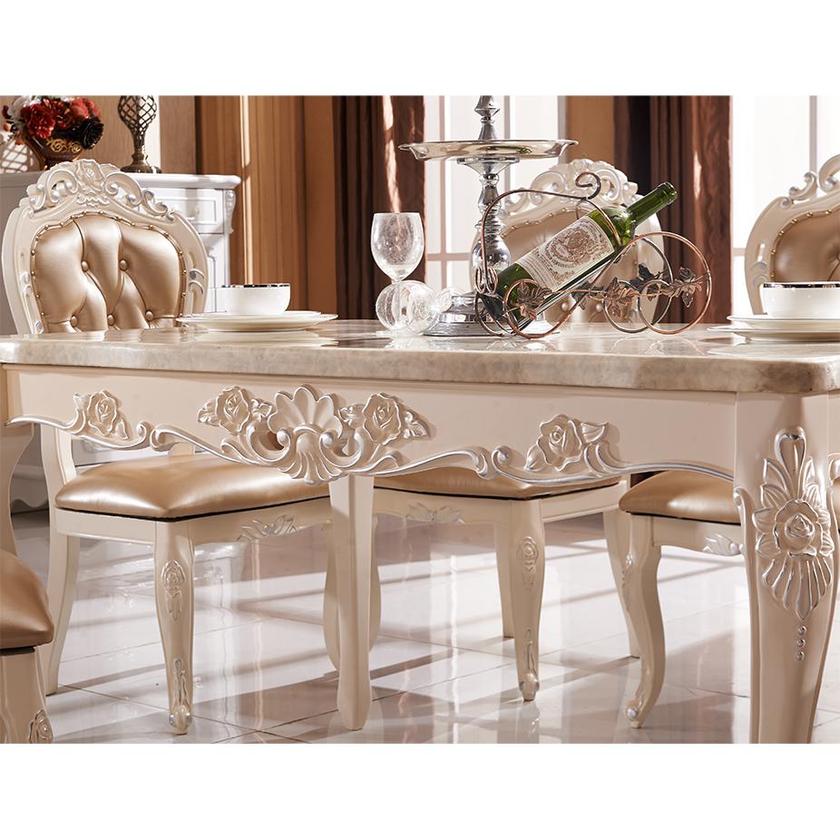 Stile europeo mobili classici, di lusso in legno sala da pranzo, sala ...