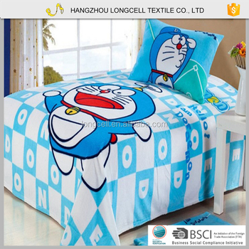 Best Bed Linen 100 Cotton Bedding Set Cartoon Bedsheet For Children
