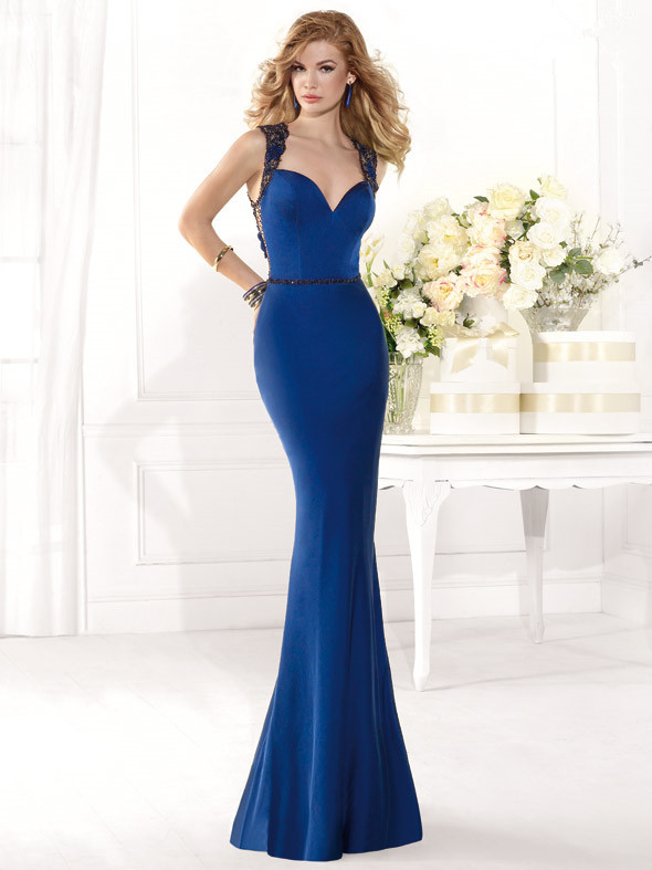 ace755657e Get Quotations · INM-345 New Fashion Navy Blue Lace Back Long Evening Dress  2015 Crystal Sweetheart Mermaid