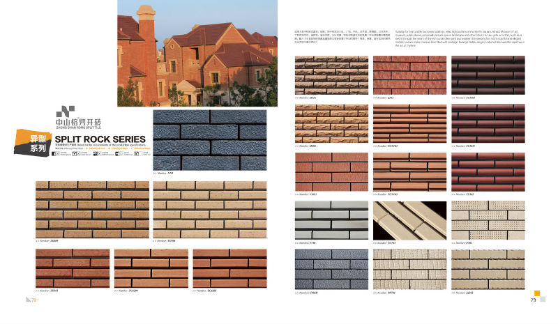 Low cost wall cladding brick terracotta clay tile exterior for Brick home construction costs