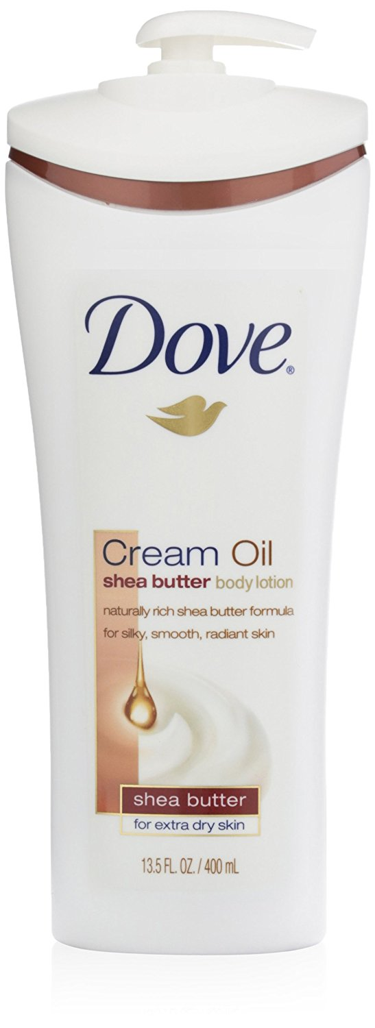 Dove Cream Oil Body Lotion, Shea Butter/Extra Dry Skin, 13.5 Ounce (Pack of 3)